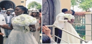 Adams Oshiomhole & Wife, Iara Stun At The Wedding Of President Buhari's Photographer [See Photos]
